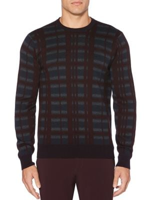 Multicolor Plaid Crewneck...