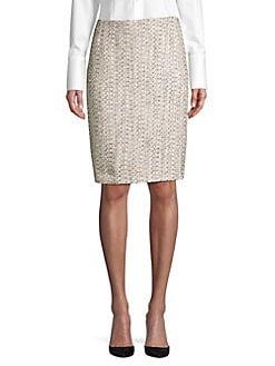 9e37c7307 Product image. QUICK VIEW. Nipon Boutique. Metallic Tweed Pencil Skirt