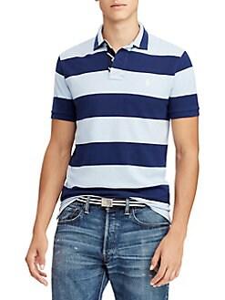 599df43a7 QUICK VIEW. Polo Ralph Lauren. Striped Mesh Cotton Polo Shirt