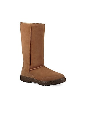 542fc038f76 Ugg - Ultra Revival Suede and Sheepskin Tall Boots - lordandtaylor.com