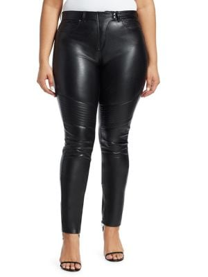 Image of Faux Leather Moto Pants