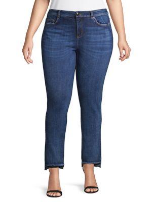 Image of Plus Skinny Step Hem Jeans
