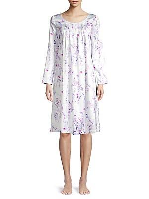 21297882ace9 Carole Hochman - 2-Piece Printed Cotton Blend Pajama Set ...