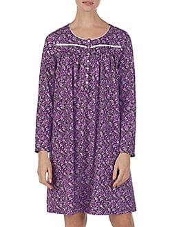 Floral Cotton Nightgown PLUM. QUICK VIEW. Product image. QUICK VIEW. Eileen  West 66817ef69