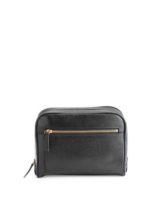 Pebbled Leather Zip Toiletry...