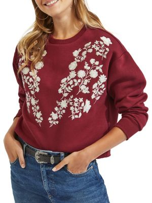 Embroidered Long-Sleeve...