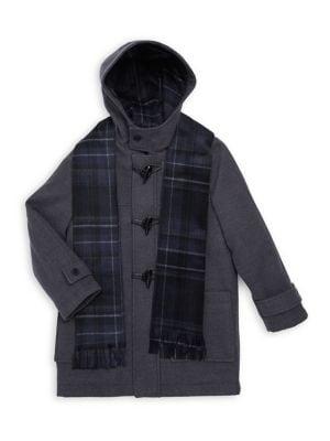 Boy's Hooded Toggle Coat...