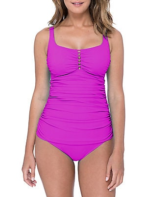 Profile By Gottex - Tutti Frutti Sqaureneck One-Piece Swimsuit
