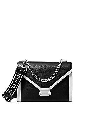 c69aebaacbcd MICHAEL Michael Kors - Pebbled Leather Phone Crossbody Bag ...