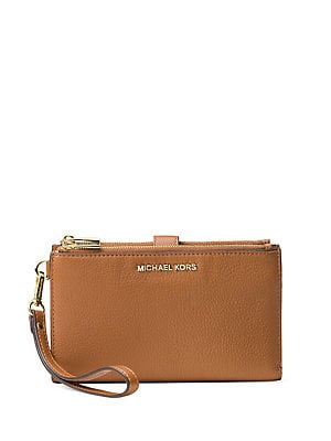 8e0f3975c33a MICHAEL Michael Kors - Double Zip Leather Wristlet - lordandtaylor.com