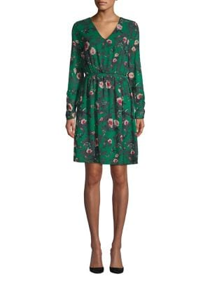 Floral Long Sleeve Shift...