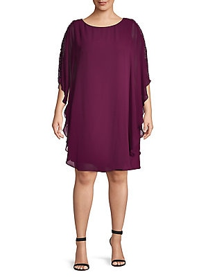 0fde4dba186b Xscape - Embellished Overlay Dress - lordandtaylor.com