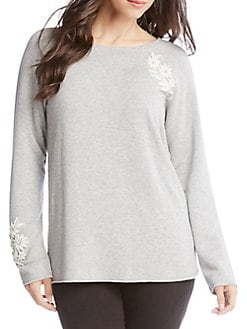 db312833114 QUICK VIEW. Karen Kane. Appliqué Long Sleeve Sweater