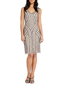 9dcc9c363b QUICK VIEW. Adrianna Papell. Beaded Sheath Dress