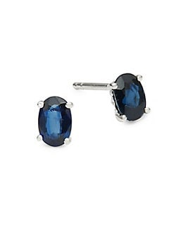 93f06306cc5bb3 14K White Gold and Sapphire Stud Earrings SAPPHIRE. QUICK VIEW. Product  image