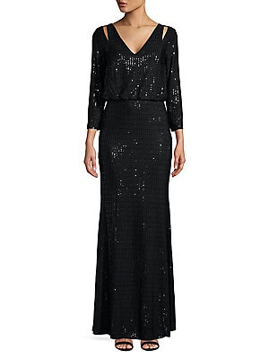 c29c1ec5a3bd0 Calvin Klein - Sequined Cutout Blouson Gown