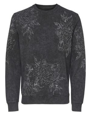 Floral-Print Cotton Sweater...
