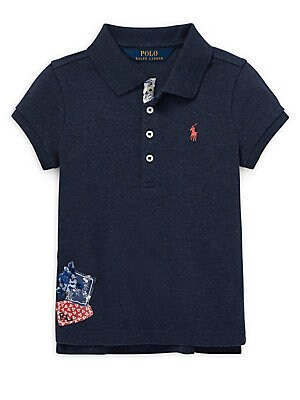 8e6be9b83 Ralph Lauren Childrenswear - Little Girl's Short-Sleeve Polo