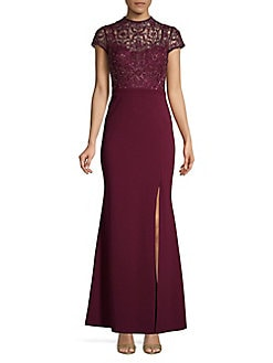 b5bc3d0f1e QUICK VIEW. Aidan by Aidan Mattox. Embellished Lace Evening Gown