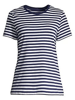 fd76fec2 Product image. QUICK VIEW. Lord & Taylor. Striped Short Sleeve Tee