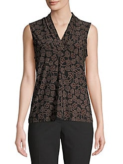 03605f65799 QUICK VIEW. Anne Klein. Printed Sleeveless Blouse