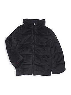 c3414a0451a Product image. QUICK VIEW. Calvin Klein. Little Girl's Velour Puffer Coat