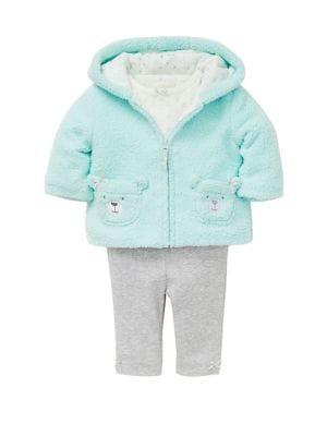 Baby Girls ThreePiece Jacket Cotton Bodysuit  Pants Set