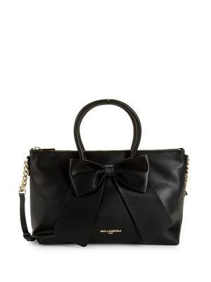 Image of Kris Faux-Leather Bow Satchel