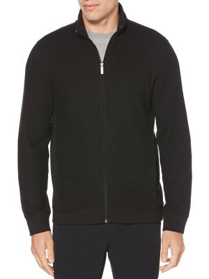 Full-Zip Jacquard Sweater...
