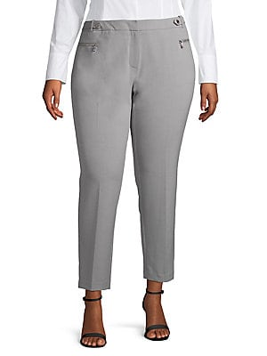 23260c7ad7c Calvin Klein - Plus Straight Leg Buckle Pants