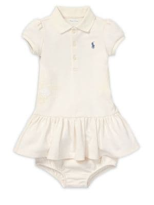 Baby Girls TwoPiece Cotton Polo Dress  Bloomers Set