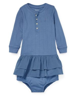 Baby Girls Tiered Polo Dress