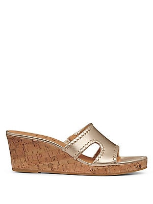 d027c5312a2e Jack Rogers - Sloan Mid Wedge Leather Sandals - lordandtaylor.com