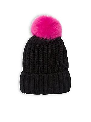937910364b6 Norla - Fox Fur Pom Beanie - lordandtaylor.com