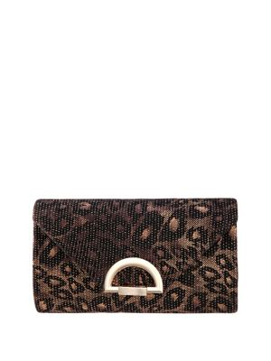 Leopard Printed Pleated Clutch 500088890782