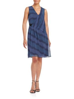 Pleated Shift Dress by Belle Badgley Mischka