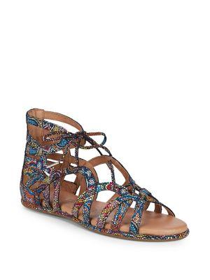 Break My Heart Foiled Leather Sandals by Gentle Souls
