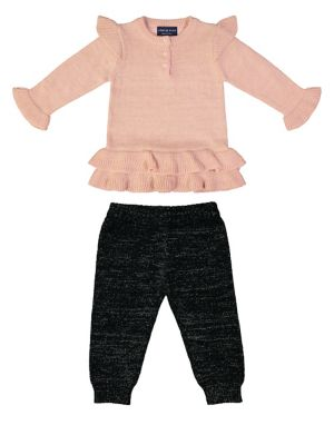 Baby Girls TwoPiece Sweater  Pants Set