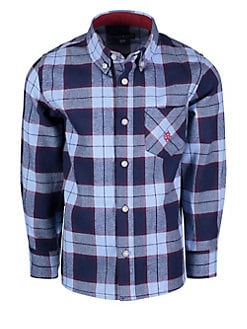 02cc89618 QUICK VIEW. Andy & Evan. Little Boy's Plaid Cotton Flannel Collared Shirt