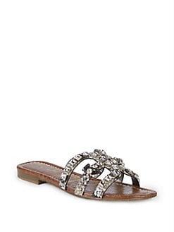 7ccd73d62305b8 QUICK VIEW. Sam Edelman. Snake Printed Embellished Sandals