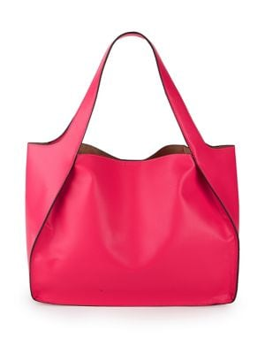 Image of Open Faux-Leather Tote With Pouch