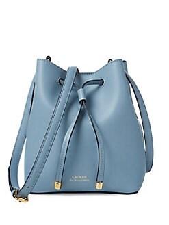 ee723d33fa Mini Leather Drawstring Bag BLUE. QUICK VIEW. Product image. QUICK VIEW. Lauren  Ralph Lauren