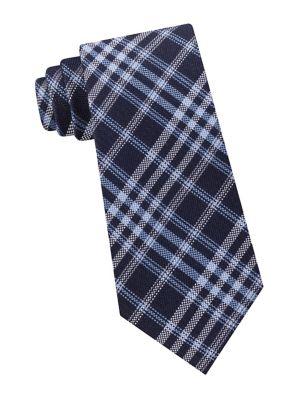 Plaid Silk Tie @...