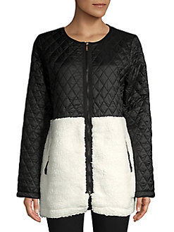 5af431b3f55 QUICK VIEW. Calvin Klein Performance. Metallic Quilted Sherpa Jacket