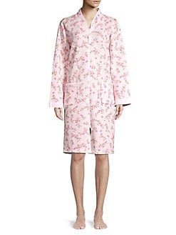 60d050e5ff Floral Quilted Zip-Front Robe PINK PRINT. QUICK VIEW. Product image. QUICK  VIEW. Miss Elaine