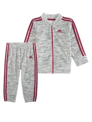 Baby Girls TwoPiece Velour Jacket  Jogger Pants Set