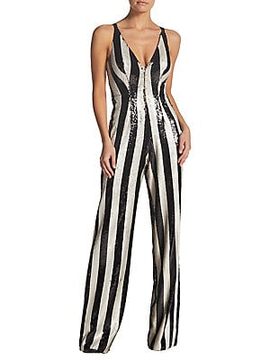 8db5f5bfc311 Dress The Population - Bobbie Two-Tone Sequin Stripe Jumpsuit -  lordandtaylor.com