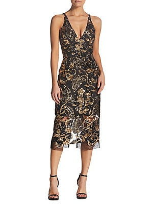 f3a836ec Dress The Population - Margo Floral Sequin Mesh Dress - lordandtaylor.com