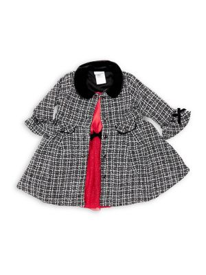 Baby Girls TwoPiece Tweed Jacket  Glitter Dress Set