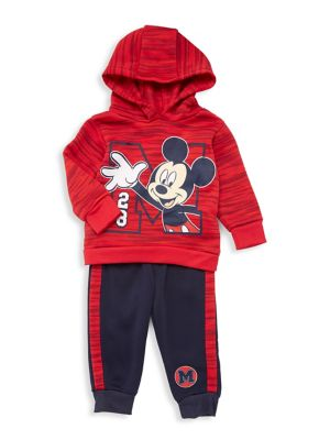 Baby Boys TwoPiece Mickey Mouse Hooded Pajamas Set